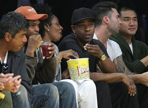 Denzel Washington and Adam Levine at Staples, 17 May 2009