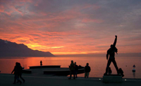 Sunset on Geneva Laje from Montreux
