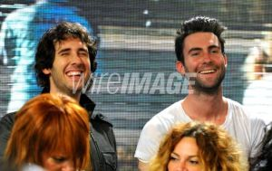 Adam Levine and Josh Groban records the remade version of We Are The World
