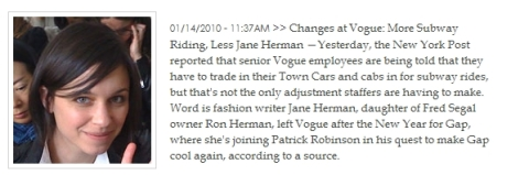 """Jane Herman. That Jane of """"Songs About Jane"""" ;)"""