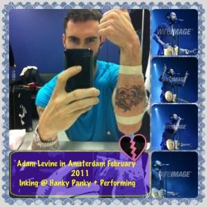 New Adam Levine's tattoo
