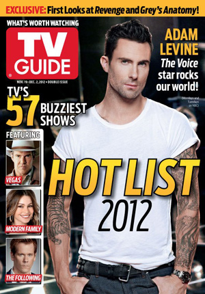 Adam Levine tops TV Guide's HOTLIST 2012