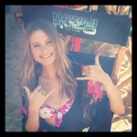 Behati on set