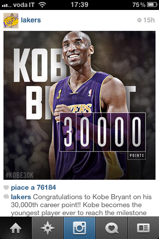 Youngest player to break 30000 points. LEGENDARY Kobe Bryant