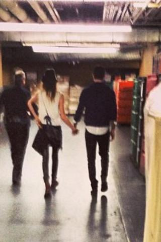 Adam Levine and girlfriend Behati Prinsloo leave the Mandalay Bay Arena on Dec 29th 2012
