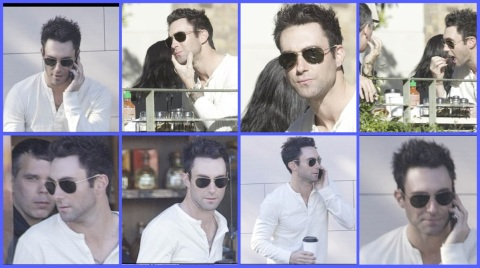 Adam Levine and Milo DeCruz do lunch in Hollywood on January 15th 2013
