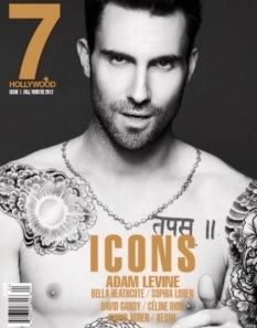Adam Levine for 7 Hollywood Magazine debut issue ICONS Winter 2013
