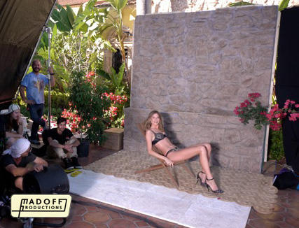 Behati shooting VS in Miami January 2013