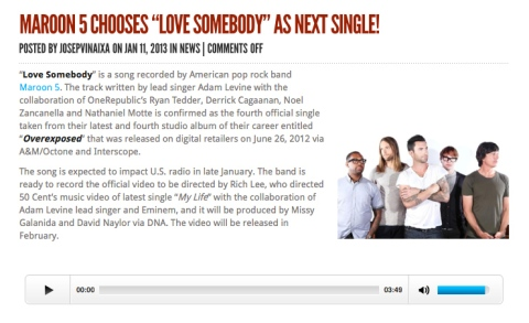 Love Somebody? really? -_- why can't you ever pick any right single after the first two songs? sigh...