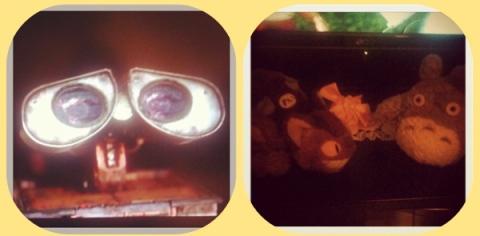 Wall-E and Totoro ;)