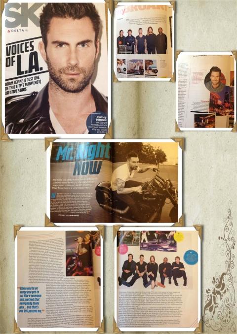 Adam Levine covers Sky Delta Magazine Feb 2013