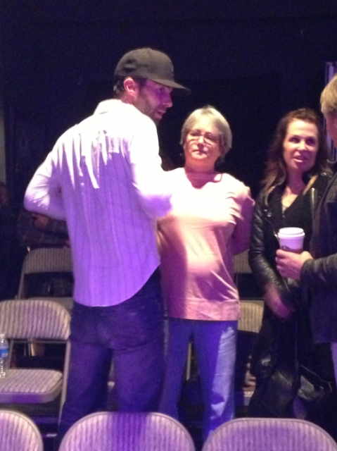 Adam Levine Mum Patsy and Family at Rent in LA 3 February 2013