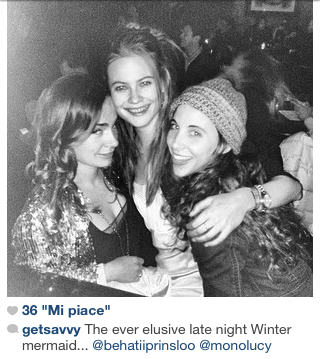 After party Saturday Night Life: Behati, Savannah, Lucy