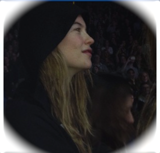 Behati Prinsloo at M5 gig when Adam sung SWBL to her