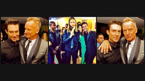 Maroon 5 Grammy Party 2013 with STING