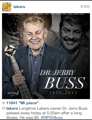 Irreplaceable. Jerry Buss. Lakers MAKER.