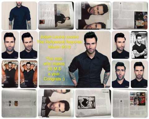 Adam Levine covers The Hollywood Reporter March 2013