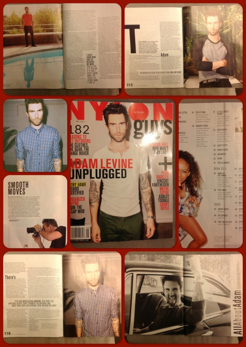 Adam Levine for Nylon Magazine