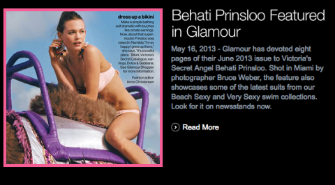 Behati for Bruce Weber in Glamour Magazine May 2013 - shot on February in Miami