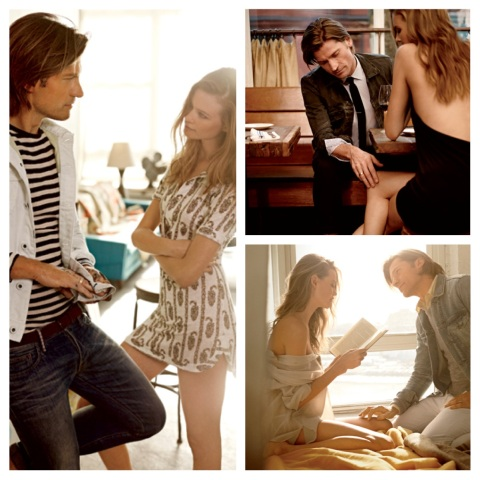 Behati for GQ March 2013 with Nikolaji Coster-Waldau