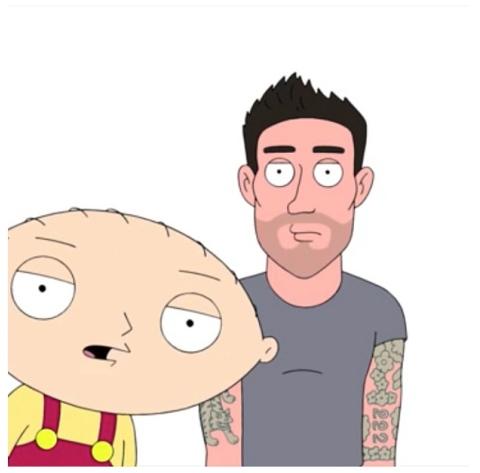 Adam Levine cartoonized