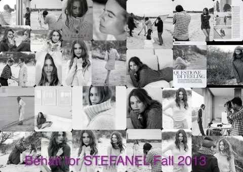 Behati for Stefanel FEEL MORE campaign