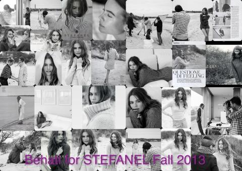 Behati for Stefanel FEEL MORE campaign