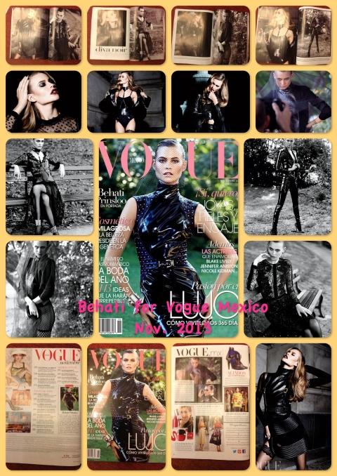 Behati for Vogue mexico Nov 2013