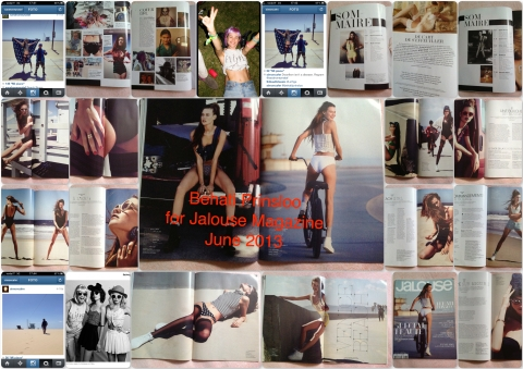 Behati Prinsloo for Jalouse Magazine June 2013 - shot in April, with M5 crew support but without Adam's one